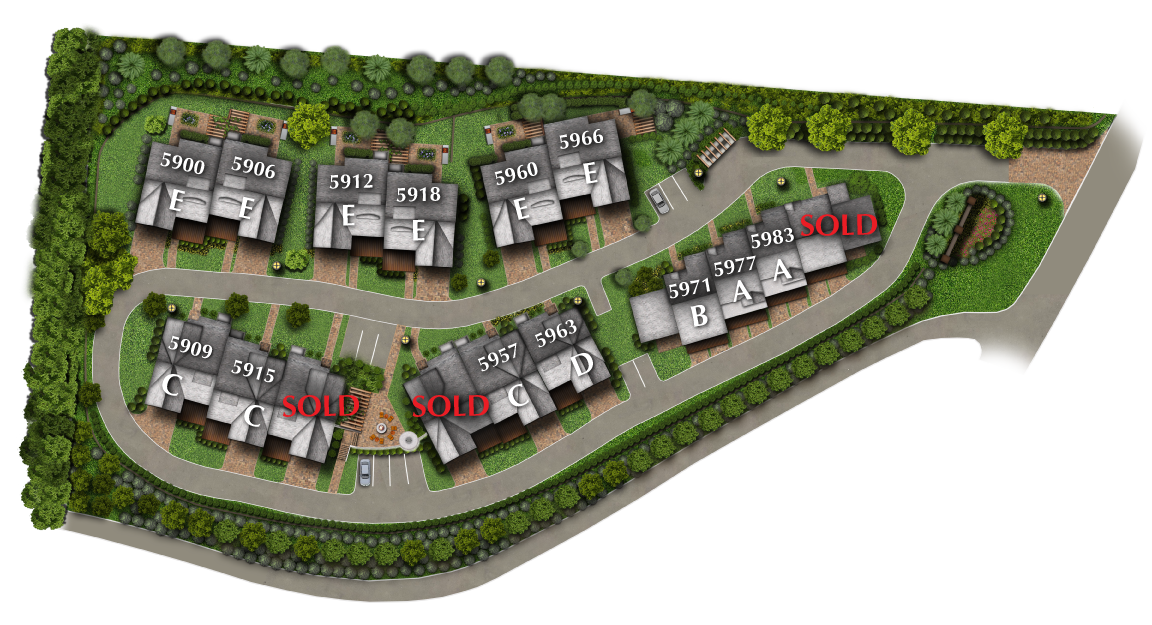 Woodland Vistas Luxury Lifestyle Homes Site Plan