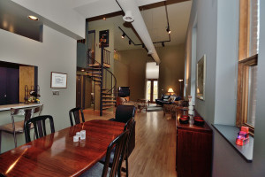 Totally updated 2 story loft condo with garage
